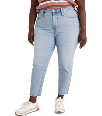plus size women's madewell the perfect high waist jeans, size 22w - blue
