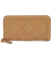women's tory burch fleming quilted leather continental wallet -