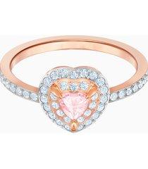 anello one, multicolore, placcato oro rosa