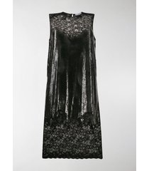 paco rabanne chainmail lace midi dress