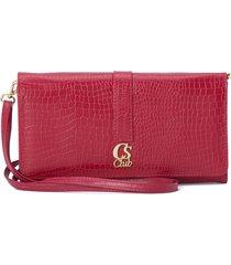 bolsa carteira borgonha cs club vermelho