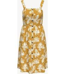 tommy hilfiger women's essential sleeveless floral dress golden glow - xs