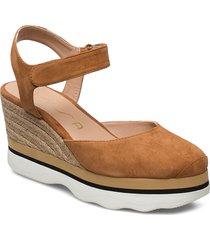 lambada_ks sandalette med klack espadrilles brun unisa