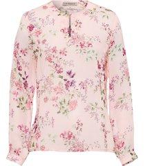 blouse bloemenprint van uta raasch lichtroze