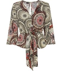 blouse met rugdecolleté