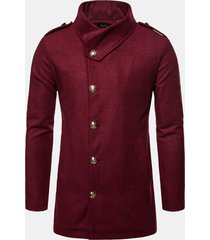 giacca uomo mid mid winter in misto fibra chimica con fibbia sottile fit jacket