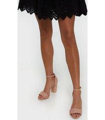 nly shoes block heel sandal high heel rosa