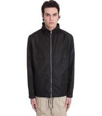ami alexandre mattiussi casual jacket in black polyamide