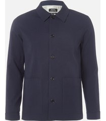 a.p.c. men's veste martin jacket - dark navy - xl