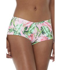 bottom pantaleta tropical rosa mujer corona