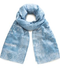 pañuelo galaxy azul desigual