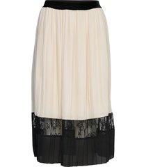 skirt knälång kjol vit rosemunde