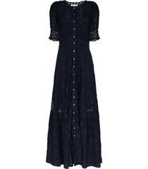 loveshackfancy minka maxi dress - blue