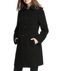 women's kimi and kai wool blend maternity coat, size medium - black