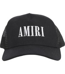 amiri black trucker hat