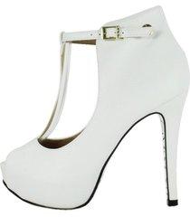 peep toe week shoes open boot floter branco - kanui