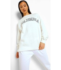 oversized columbia sweater, ecru