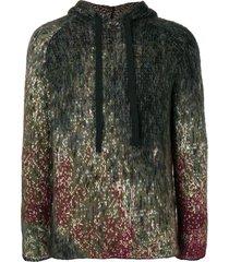 federico curradi raglan knitted hoodie - brown
