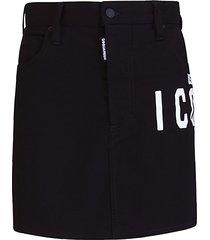 dsquared icon black skirt dsquared2