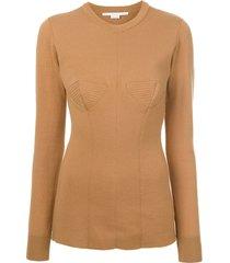 round neck sweater brown