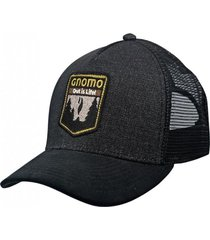 gorro tokhur halftrucker black denim negro gnomo