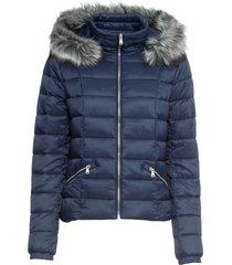 giacca trapuntata con cappuccio (blu) - bodyflirt
