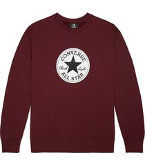 converse sudadera con cuello redondo chuck patch brown