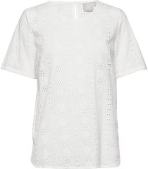 blouse-woven blouses short-sleeved vit brandtex