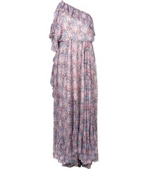 philosophy di lorenzo serafini floral print one shoulder dress -