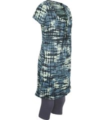 tunica lunga e leggings a pinocchietto (set 2 pezzi) (blu) - bpc bonprix collection