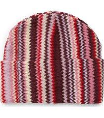 missoni women's zigzag wool-blend beanie - pink purple