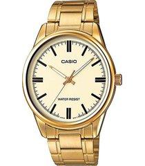 reloj casio ltp_v005g_9a dorado acero inoxidable