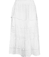 angela skirt knälång kjol vit by malina