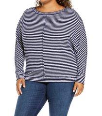 plus size women's caslon one-shoulder pullover