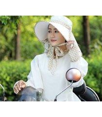 nuevo sombrero para el sol transpirable exterior para mujer-beige
