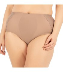 calcinha plus cinta nozes - 534.481 marcyn lingerie alta bege