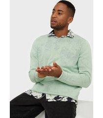 premium by jack & jones jprblalinen knit crew neck sts tröjor grön