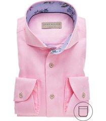 john miller overhemd modern fit borstzak roze