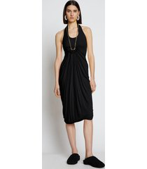 proenza schouler draped matte jersey dress black 6