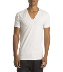 alan red t-shirt no neck v-hals white ( 2p)