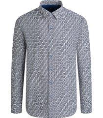 men's bugatchi classic fit floral button-up shirt, size xxx-large - blue