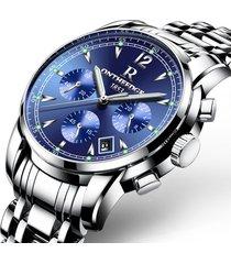 reloj hombre multifunciónal de acero negocio 036 - azul