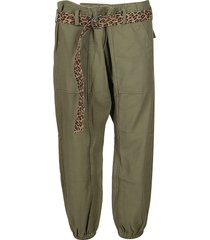 r13 olive green cotton trousers