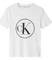 camiseta de algodón organico con logo blanco calvin klein