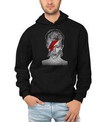 la pop art men's david bowie aladdin sane word art hooded sweatshirt