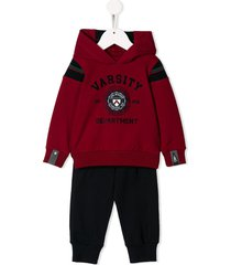 lapin house varsity tracksuit set - red