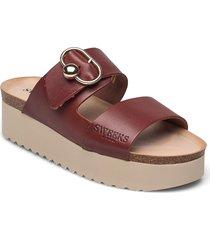 hedda shoes summer shoes flat sandals röd sweeks