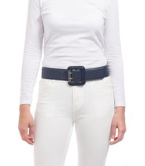 vince camuto snake embossed covered buckle stretch belt