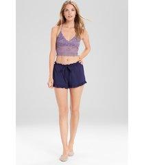 josie femme shorts pajamas, women's, blue, size l natori