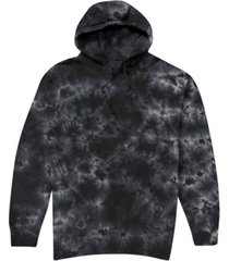 hybrid men's shadow tie dye hooded fleece sweatshirt